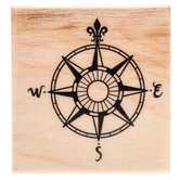 Vintage Compass Rubber Stamp
